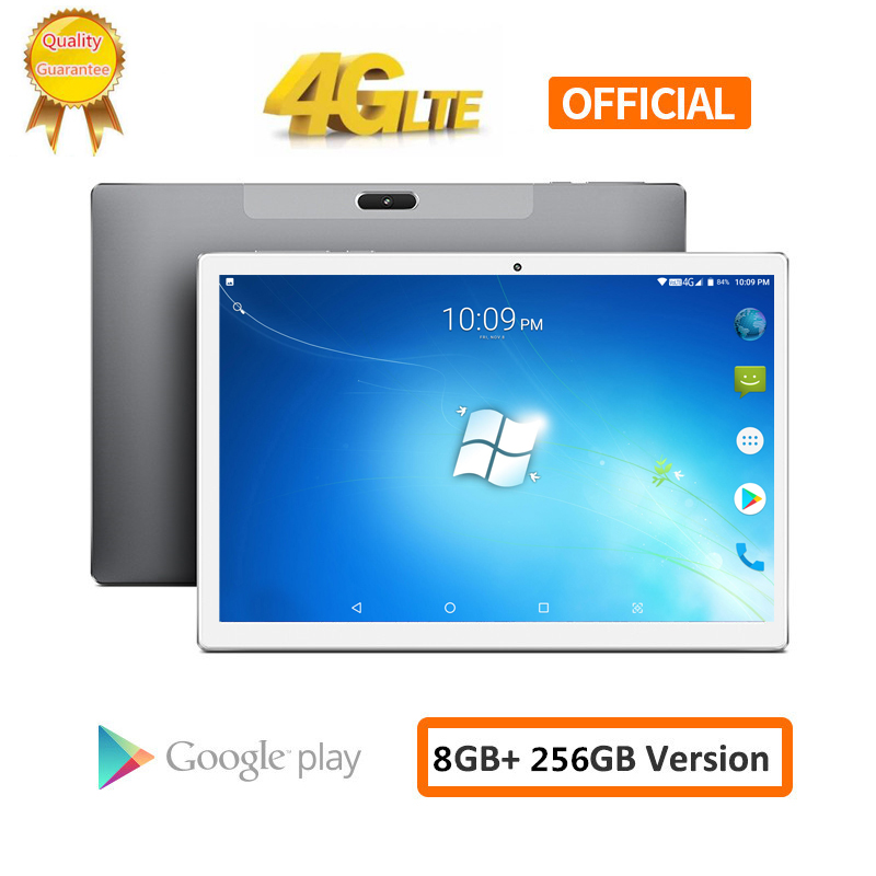 2020 8000mAH Android 8.0 2.5D Screen Tablet Pcs 10.1 Inch 4G LTE Phone Tablet PC 10 Core RAM 8GB ROM 256GB Tablets 2560*1600 Pcs