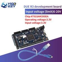 Oficial r3 compatível placa sam3x8e 32-bit braço Cortex-M3/mega2560 r3 duemilanove 2013 para arduino due placa com cabo