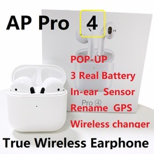 New Airpro 4 TWS wireless headset Bluetooth earphone fashion  tws earbuds sports GPS Rename mini  Original Headphones