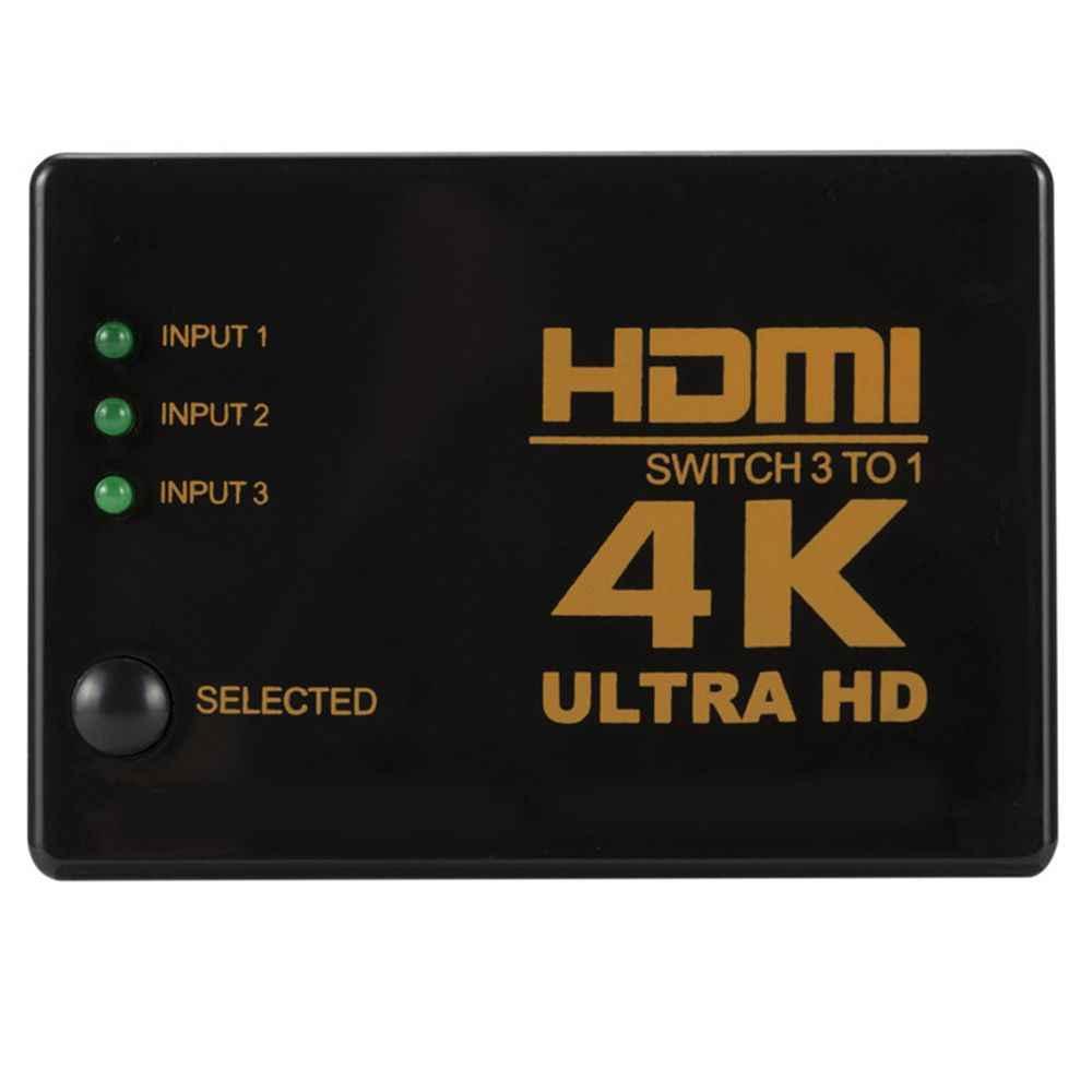 Ультра видеоусилитель распределительная коробка мини-концентратор 3-в-1 из сплиттер 1080P HDTV DVD Порты и разъёмы 4K * 2K HDMI переключатель для Xbox PS4 PS3 адаптер
