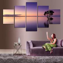 Красивый фиолетовый 5 шт постер для береговой линии неправильная