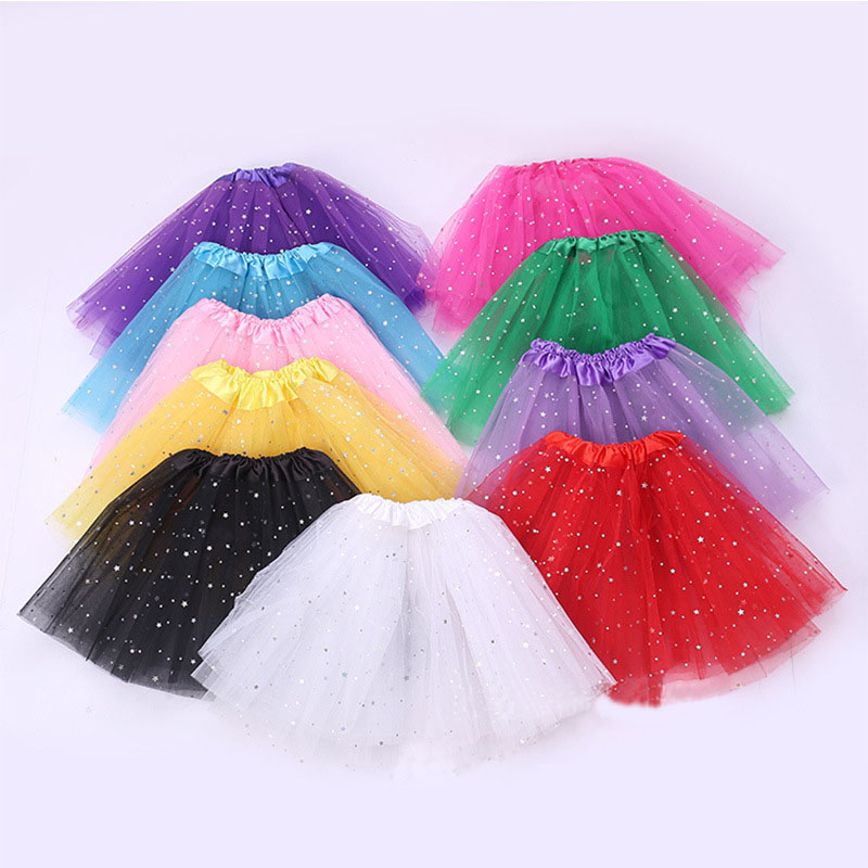 Baby Girls Kids Clothes Star Tutu Skirt Princess Girl Party Tulle Pettiskirt Children Ballet Dance Christmas  Wedding