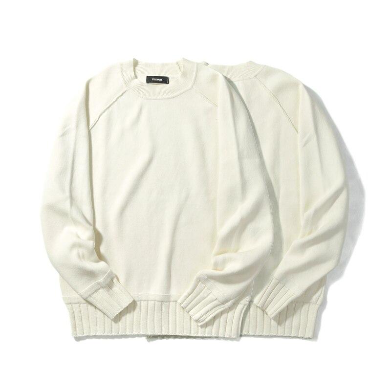 VIISHOW мужской свитер, пуловер, брендовая одежда, качественный мужской белый свитер на осень и весну, Рождественский свитер, ZC1753173 - 2