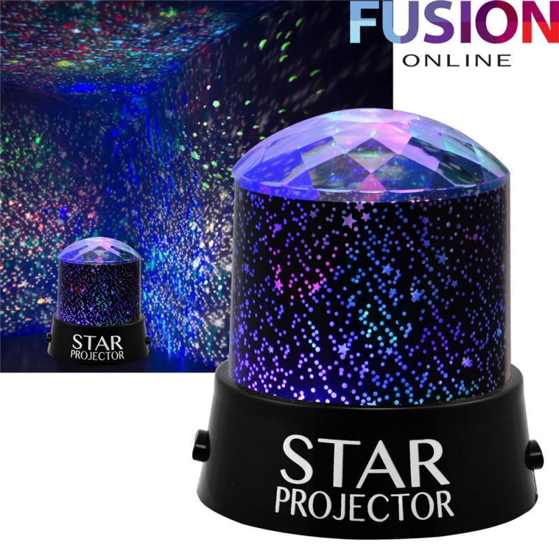 CHILDRENS STAR PROJECTION NIGHT LIGHT SKY LED PROJECTOR MOOD LAMP KIDS BEDROOM