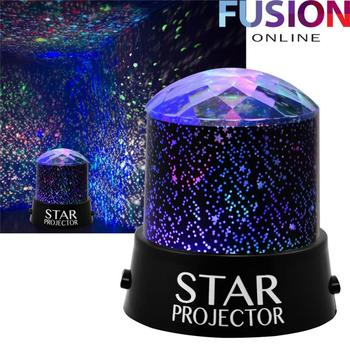 Star Projector Night Light Sky Moon Led Projector Mood Lamp Sky Rotating Battery Operated Nightlight Lamp For Children Kids Baby