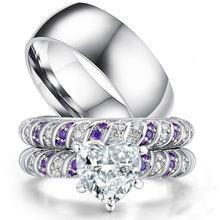 Carofeez модное кольцо для пары из нержавеющей стали мужское