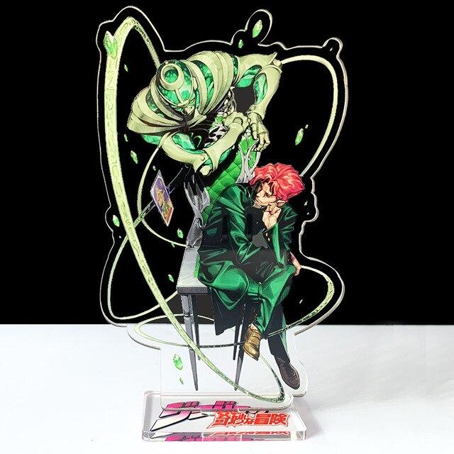 16cm JOJO JOJO's Bizarre Adventure Kakyoin Noriaki Polnareff dio acrylic stand figure model plate holder cake topper anime cool