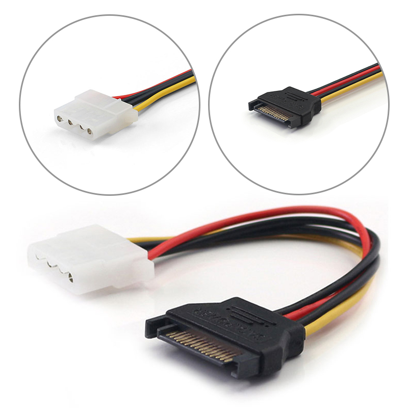 Кабель-удлинитель SATA для жестких дисков, серийный ATA 15pin папа-Molex IDE 4pin/6pin мама, источник питания для жестких дисков HDD