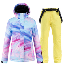 Pant Snowboard Jacket Ski-Suit Skiing-Clothing Sport-Wear Waterproof Winter Women Outdoor