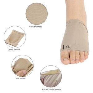 Image 2 - Arch Support Orthesen Plantarfasziitis Kissen Pad Hülse Ferse Spurs Flache Füße Orthopädische Pad Korrektur Einlegesohlen Fußpflege Werkzeug