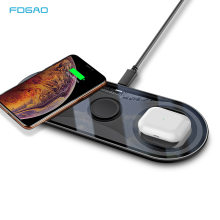 FDGAO Qi Wireless Charger For Apple Watch 5 4 3 Airpods Pro iPhone 11 X XS XR 8 15W 3 in 1 Fast Charging Pad For Samsung S20 S10(China)