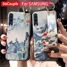 SoCouple – coque avec dragonne pour Samsung Galaxy, compatible modèles a51, a71, 70, 50, 30, 20, 21s, S9, S10, S20, FE, S21, Note 10, 20 plus, ultra