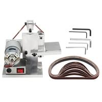 110 240V Diy Electric Belt Sander Polishing Grinding Mount Machine Edge Sharpener Wood Metal Angle Grinder