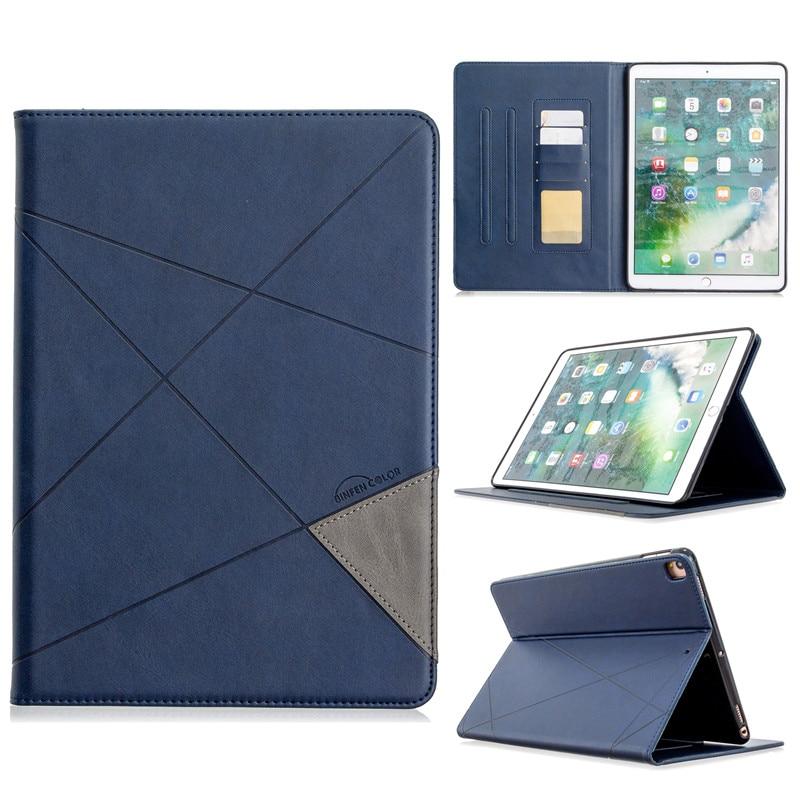 dark blue Black Luxury Flip PU Leather Tablet Case For iPad 10 2 2019 Wallet Stand Funda For iPad