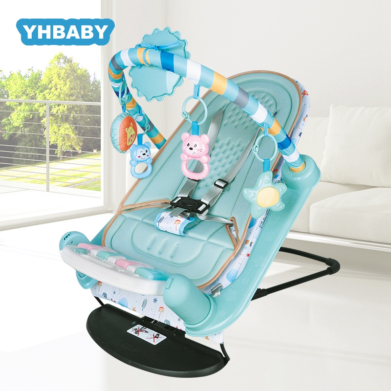 Baby Rocking Chair Newborn Electric Toy Fitness Frame Children Music Folding Swing Multifunction Comfortable Recliner Rattle