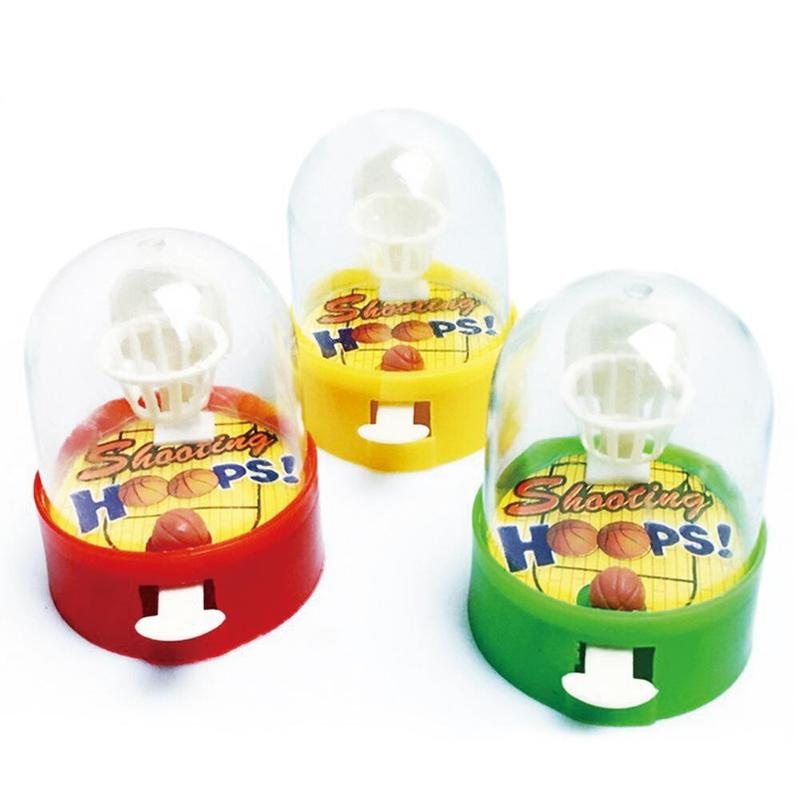 1pcs Mini Finger Basketball Shooting Machine Desktop Party Game Unloading Ball Interactive Educational Toys Random Color