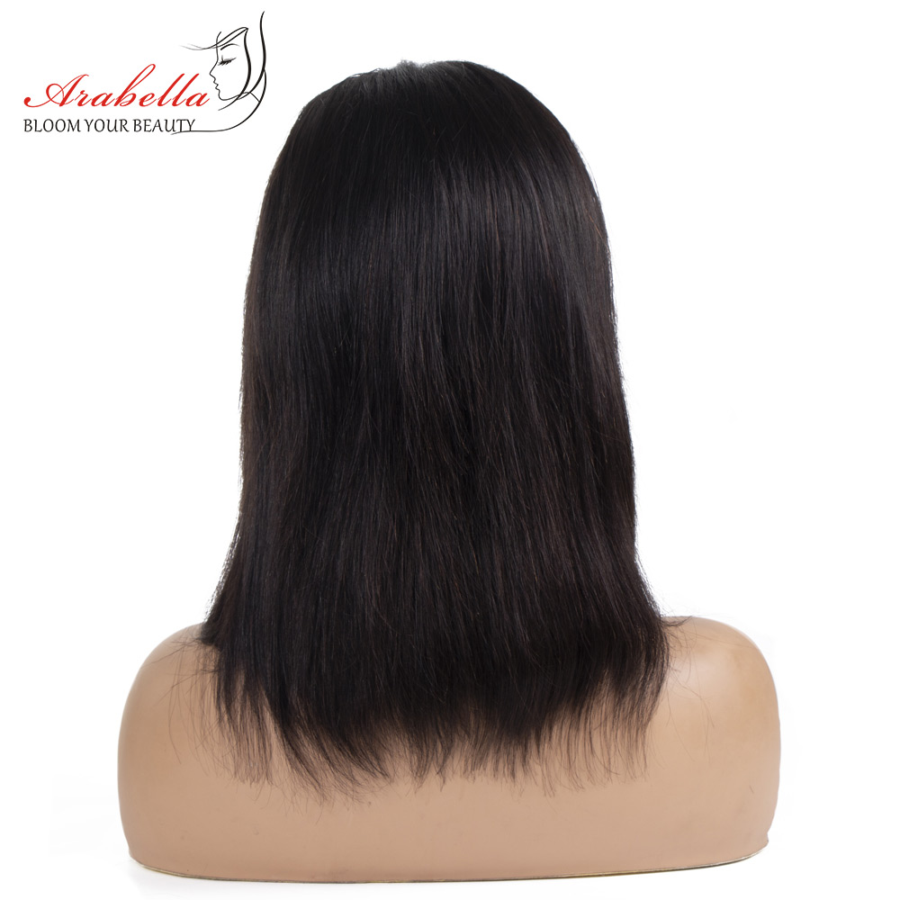 Wig Straight Short Bob Lace Closure Wigs 4x4 Lace Wig 100%  Wigs Preplucked With Baby Hair Arabella  Bob 4