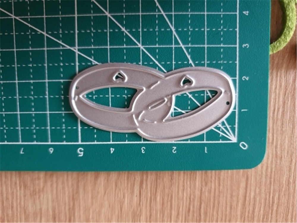Nieuwe 2020 Diy Trouwringen Metalen Stansmessen Scrapbooking Postzegels Craft Embossing Gestanst Maken Stencil Template Stempel En Sterft