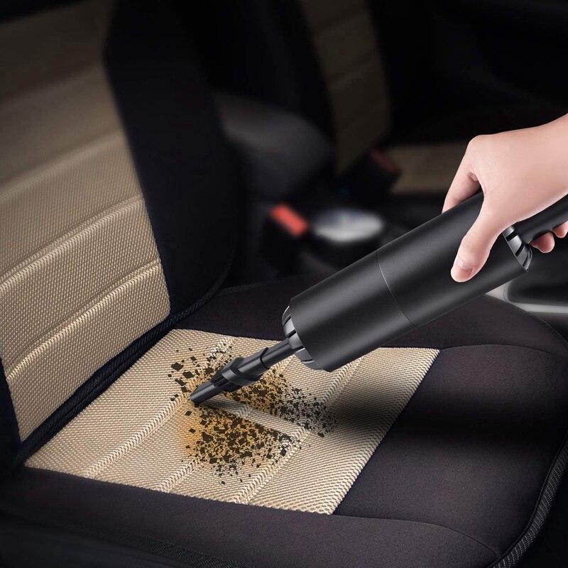 Ev Aletleri'ten Elektrikli Süpürgeler'de Araba akülü  el Mini Vacuums temizleyici  80W USB şarj edilebilir VAC hafif 4000Pa araba  bilgisayar  klavye  kapalı title=
