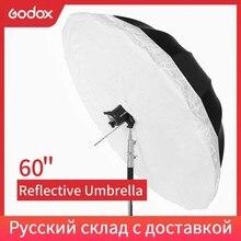 "Godox 60"" 150cm Studio Photogrphy Umbrella Black Silver Reflective Umbrella + Large Diffuser Cover For Studio Shooting"