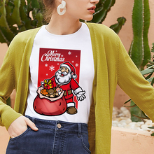 New Santa Claus t shirt women fashion Merry Christmas Harajuku t-shirt White hipster Suitable all se