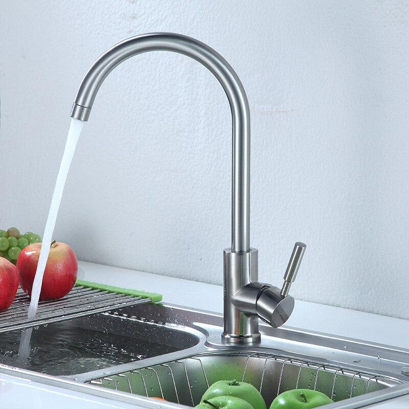 King Sanitary Ware Kitchen Sanitary Ware Washing Basin Sink Faucet Stainless Steel Mixing Valve Faucet Manufacturers Wholesale