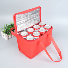 лучшая цена Portable Picnic Lunch Cooler Bag For Bottle Food Fresh Keeping Insulation Folding Thermal Bags Waterproof Thicken Drink Ice Pack