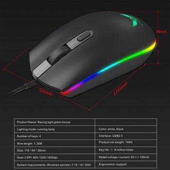 Keyboard Mouse Backlit Gaming Mouse And Keyboard Waterproof Luminous Mouse Keyboard Punk Keyboard And Mouse Combo For PC Gamer 4