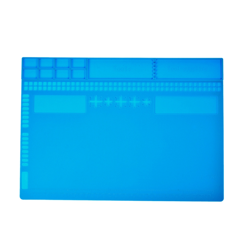 Heat-Resistant Insulation Silicone Soldering Pad Desk Mat Maintenance Platform For Bga Soldering Repair Station Tools 35x25Cm