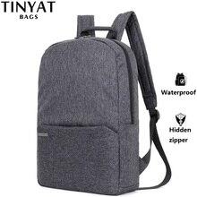 """TINYAT Männer Laptop Rucksack für 15 """"Computer Mochila Escloar Wasserdicht Schule Rucksack Tasche für teenager Leinwand Schulter Rucksack"""
