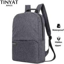 Мужской холщевый рюкзак для ноутбука tinyat компьютера с диагональю