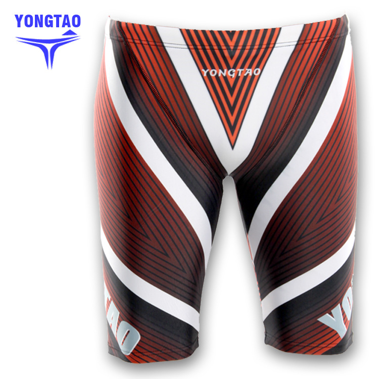 Supply 5 Swimming Trunks Knee-Length Swimming Trunks Long Swimming Trunks Digital Printed Webbing Water Groove Swimming Trunks 3