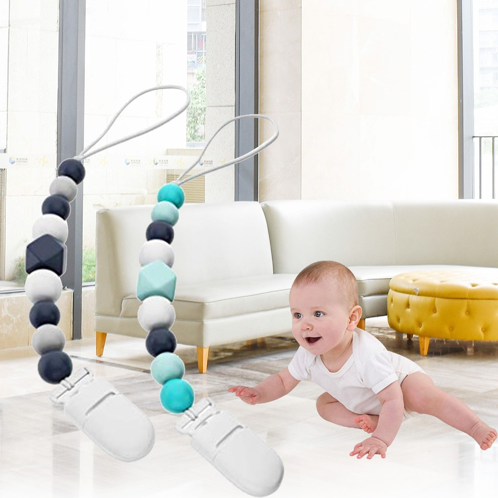 Kids Toys Baby Baby Silicone Nipple Teether Molar Stick Chain To Prevent Chain игрушки Jouets Pour Enfants Juguetes Para Niños