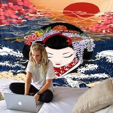 f weingartner japanische lieder op 45 Japanische Ukiyo-e Vintage Hippie Wanddekoration Wandteppich Boho Stil Art Deco Wandteppich