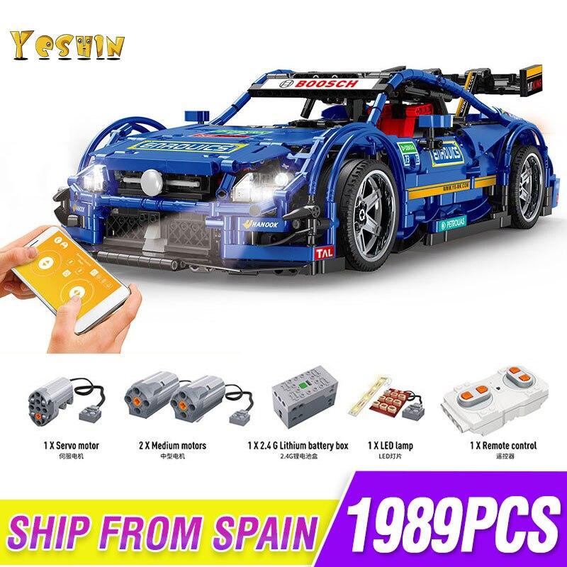 1 a relação 8 brinquedo das Crianças blocos de construção Compatível MOC 6687 cidade série technic-Mercedes Benzs AMG C63 modelo de carro de Tijolos brinquedos