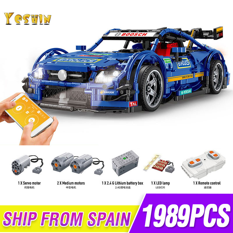 1 To 8 Ratio Children's Building Blocks Toy Compatible MOC 6687 Lepining Technic Mercedes-Benzs AMG C63 Car Model Bricks Toys