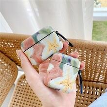 Роскошный чехол с цветочным рисунком для airpods наушников милыми