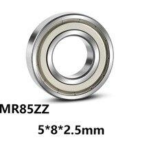 5 шт./партия MR85ZZ глубокий шаровой Миниатюрный Мини-подшипник MR85ZZ MR85-ZZ 5*8*2,5 мм 5*8*2,5 со стальным подшипником
