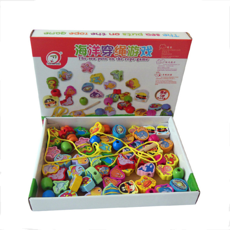 Manufacturers Wholesale Children'S Educational Early Childhood Toy Baby Oceans Beaded Bracelet Rope Wear Game A Generation Of Fa