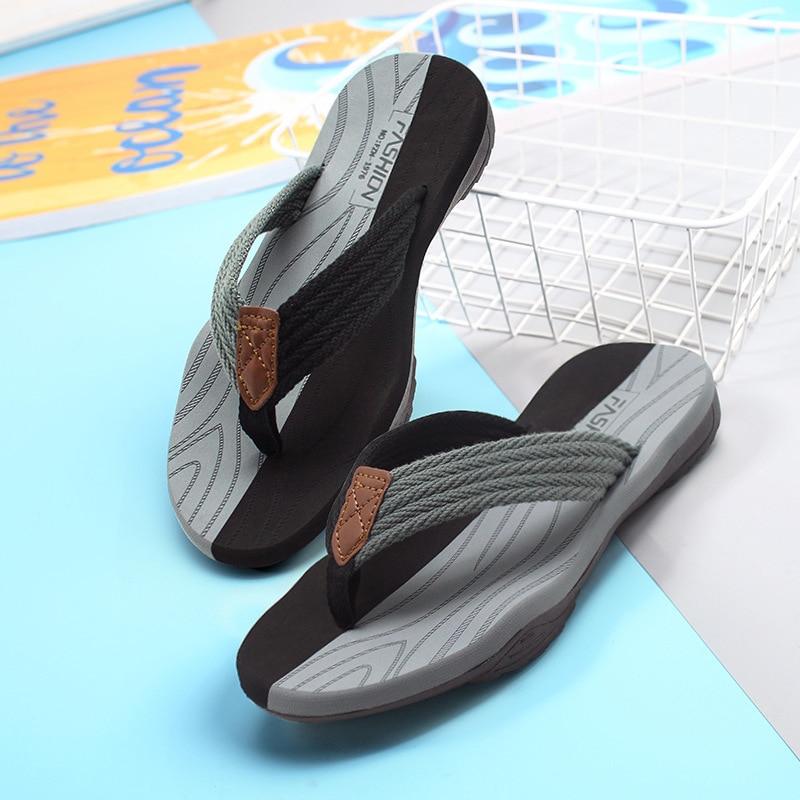 Men Flip Flops Summer Breathable Sandals Shoes For Men Non-slip Rubber Soles Slippers Fashion Outdoor Casual Shoes Big Size 47 2