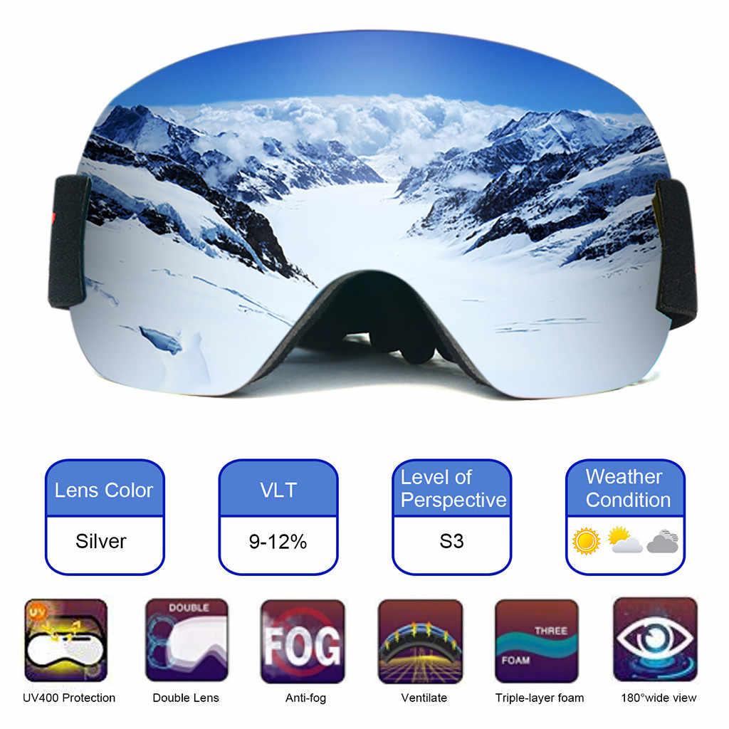 Adults Ski Glasses Anti Fog Double Lens UV Skiing Goggles  Skiing Snowboard