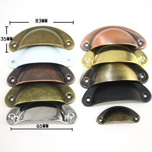Retro Metal Kitchen Drawer Cabinet Door Handle And Furniture Knobs Handware Cupboard Antique Brass Shell Pull Handles