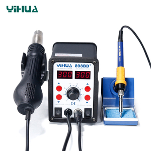 898BD+ Desoldering Hot Air Soldering Station 110 V With Iron Soldering Welding Station For Repair