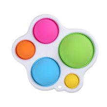 5 Color Dimple Stress Relief Desk Colorful Finger Toys Stress Reliever High Quality Game Handle Toys Plastic Antistress Pad