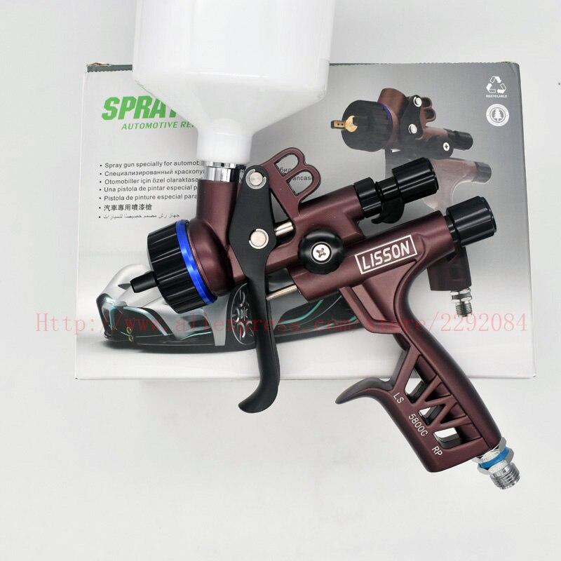 Новый титановый Электролитный электрод со случайно выбранным пистолет-распылитель 1,3 мм Насадка из нержавеющей стали 600 мл HVLP автомобиля ра...