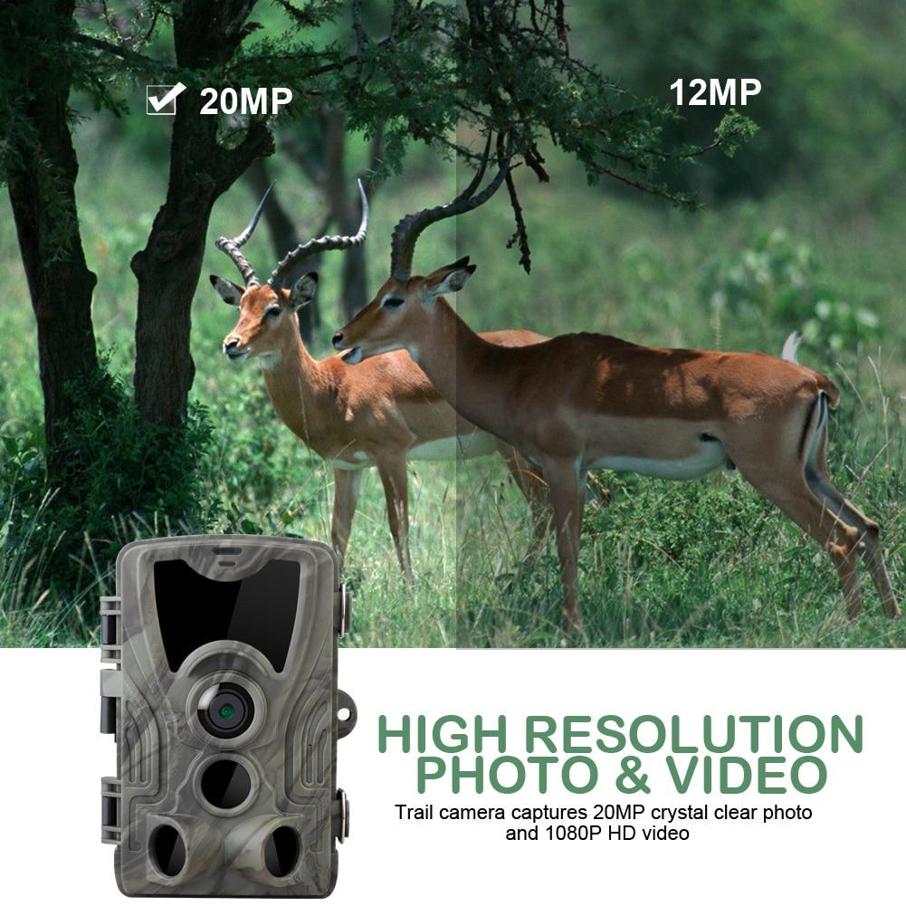 1080P 20MP Cámara de caza aire libre Vida salvaje Exploración Visión nocturna