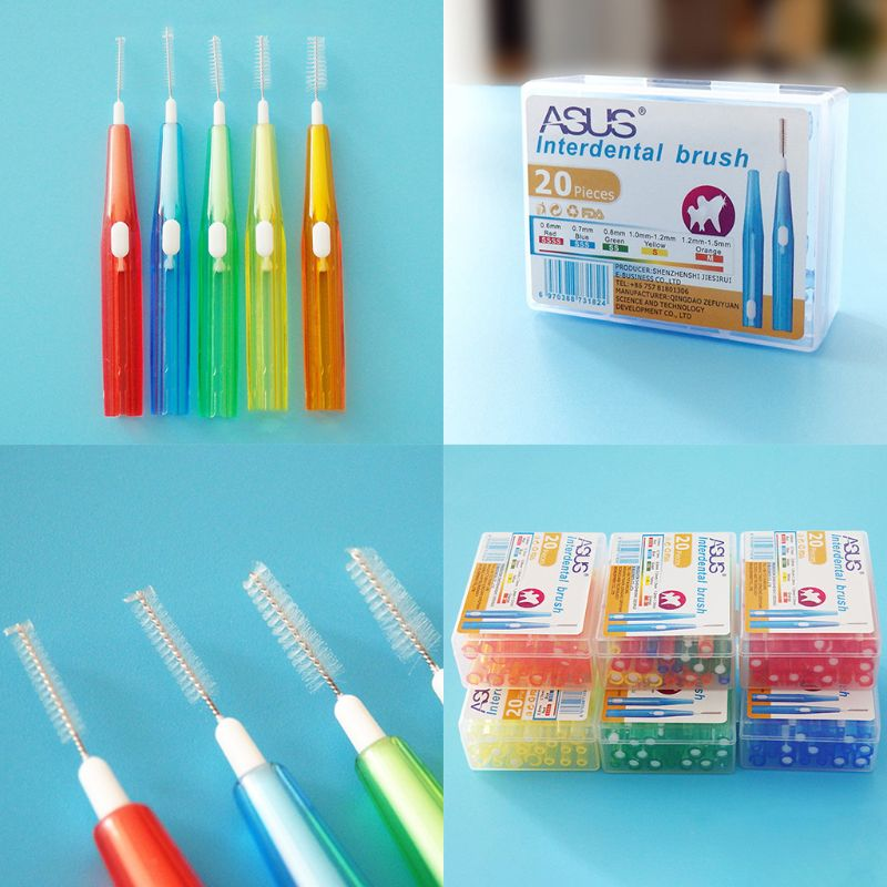 20 Pcs/box NEW Interdental Brush Retractable Orthodontic Braces Cleaning Gap Toothbrush Tooth Care Supplies image