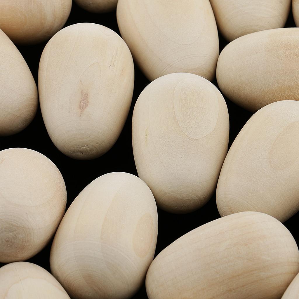 20x unfinished madeira ovos pintura & decorar para a páscoa/loja exibe