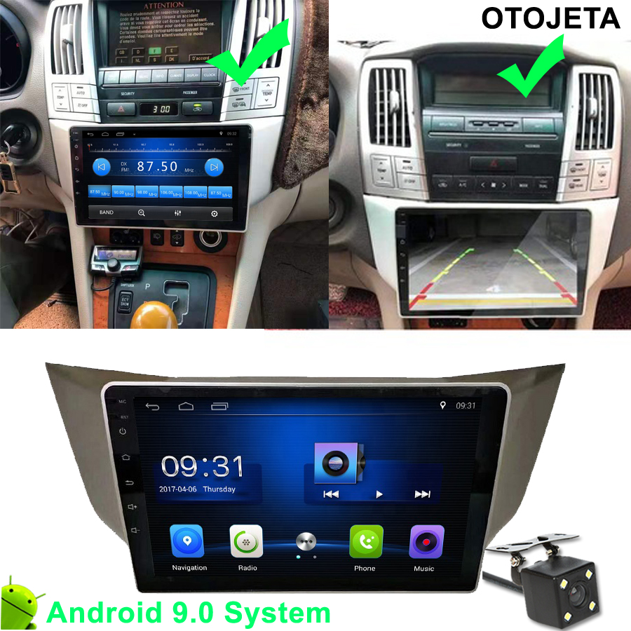 Car Multimedia For <font><b>Lexus</b></font> RX300 <font><b>RX330</b></font> RX350 RX400H Car Radio CANBUS Navigation fit Toyota harrier GPS <font><b>Android</b></font> 9.1 tape recorder image