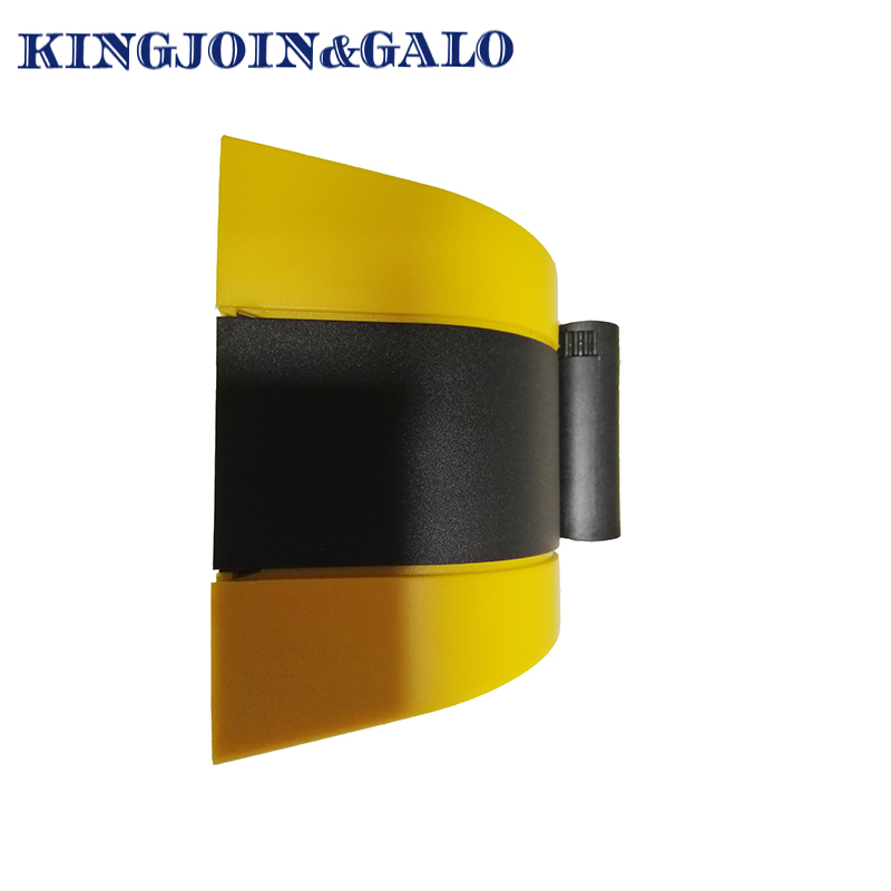 Telescopic Security Post Black /& Yellow Reflective Stripes